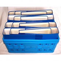 Büro - Ablage & Archiv - Klappbox blau, Ordner blau