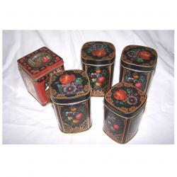 Haushalt - aufbewahren - 5 Teedosen im Set