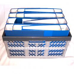 Büro - Ablage & Archiv - Klappbox grau, Ordner blau