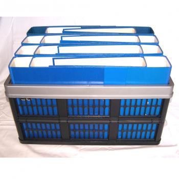 Büro - Ablage & Archiv - Klappbox schwarz, Ordner blau