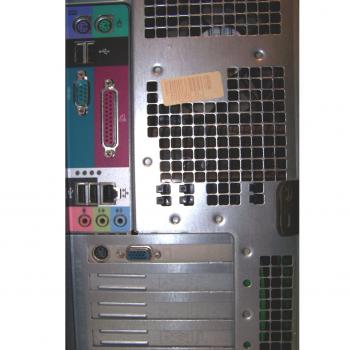 Büro - IT & Kommunikation - Arbeitsplatzrechner Dell Dimension 4550 Rückseite