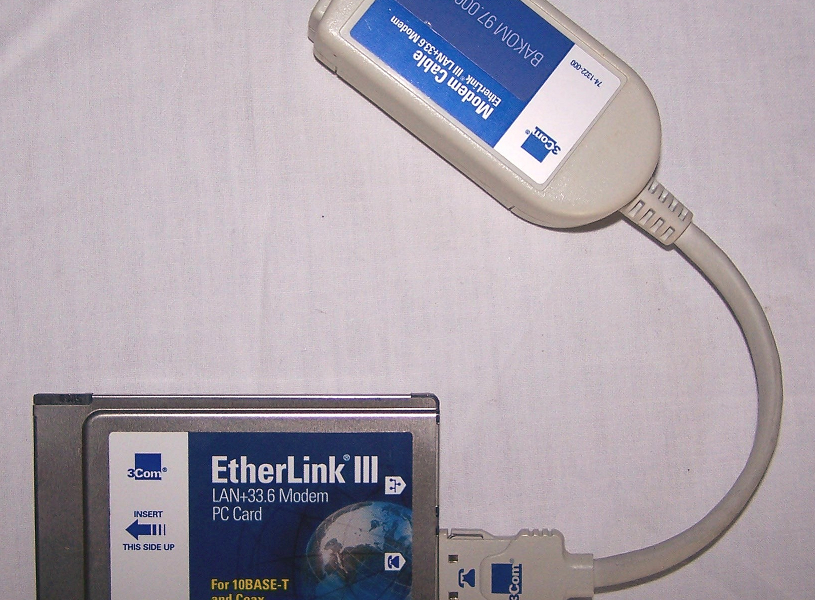 Büro - IT & Kommunikation - 3Com EtherLink III LAN + Modem PC Card