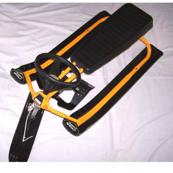Sport - Winter - Snowracer gelb/schwarz Vorderansicht
