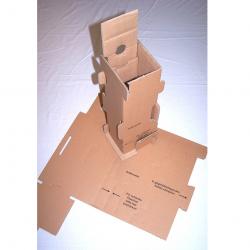 Versand - Karton für 1 Flasche mit Schutzeinsatz - Einsatz