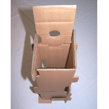 Versand - Karton für 1 Flasche mit Schutzeinsatz - Schutzeinsatz gefaltet