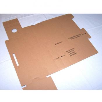 Versand - Karton für 1 Flasche mit Schutzeinsatz - Einsatz ungefaltet