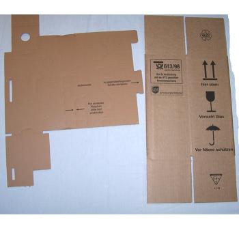 Versand - Karton für 1 Flasche mit Schutzeinsatz - Set ungefaltet