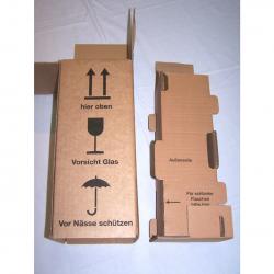 Versand - Karton für 1 Flasche mit Schutzeinsatz
