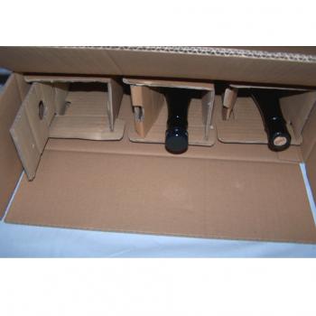 Versand - Karton für 3 Flaschen mit Schutzeinsätzen