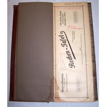 Literatur - Sachbücher - Rechentafel Henselin - erste Innenseite