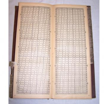 Literatur - Sachbücher - Rechentafel Henselin - Tabellenseite