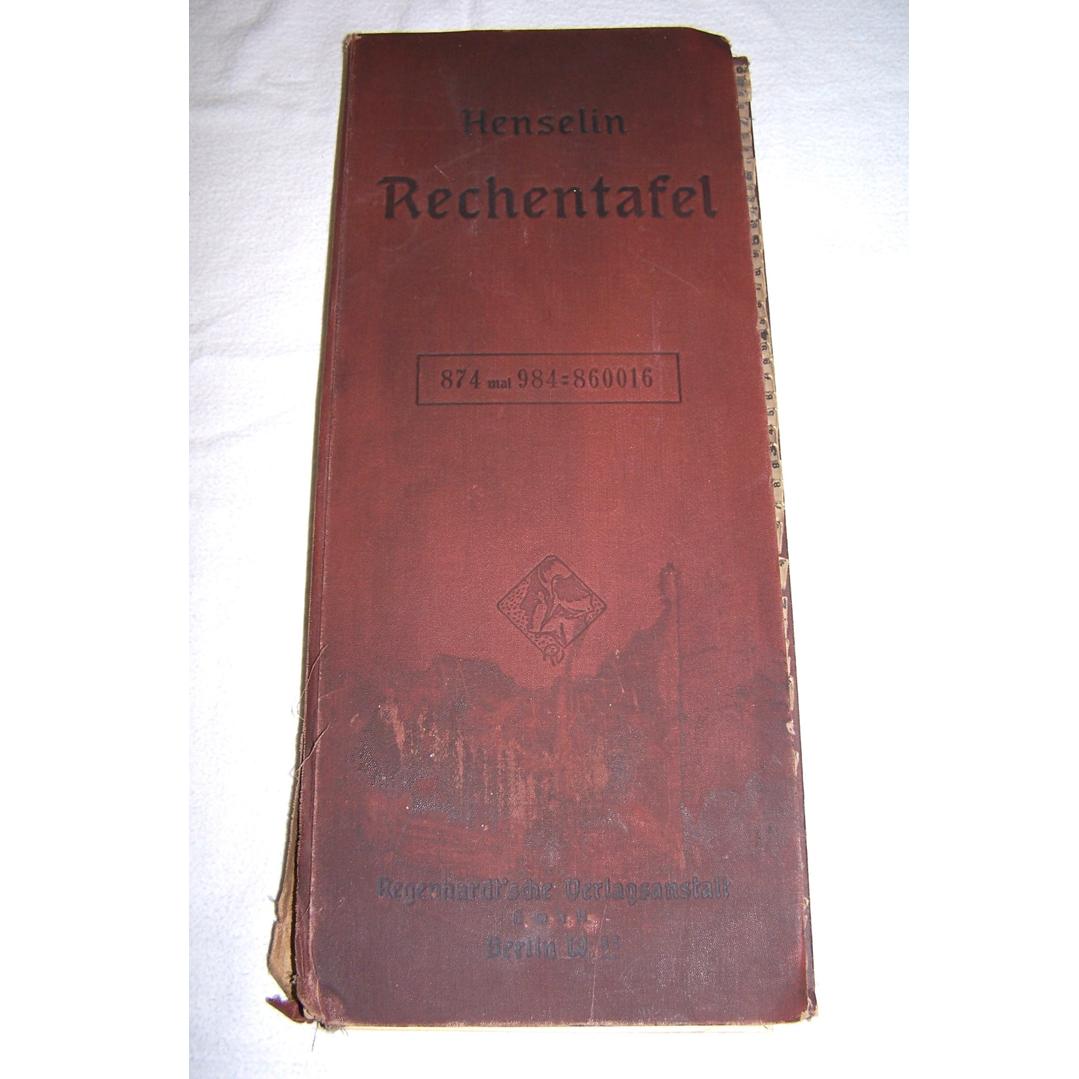 Literatur - Sachbücher - Rechentafel Henselin