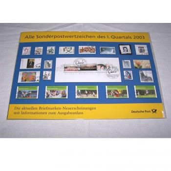 Hobby - Briefmarken - Sonderpostwertzeichen 1. Quartal 2003