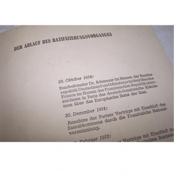 Literatur - Sachbücher - Das Europäische Saarstatut - Chronologie der Ratifizierung