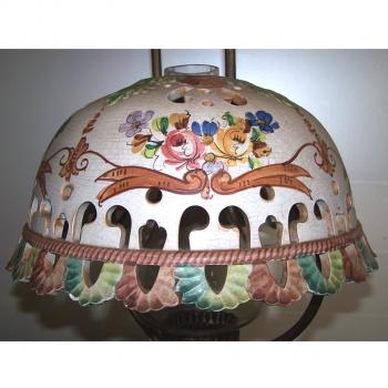 Licht - Deckenlampe Landhausstil mit passender Wandlampe - Keramikschirm