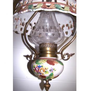 Licht - Deckenlampe Landhausstil mit passender Wandlampe - Glaszylinder