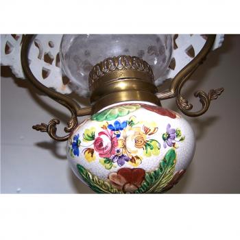 Licht - Deckenlampe Landhausstil mit passender Wandlampe - Keramikfuss