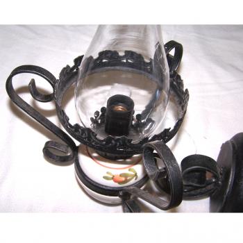 Licht - Deckenlampe Landhausstil mit passender Wandlampe - Wandleuchte Schmiedeeisen