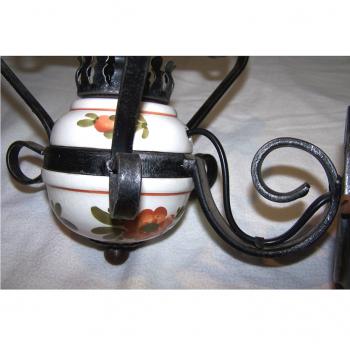 Licht - Deckenlampe Landhausstil mit passender Wandlampe - Wandleuchte Keramikfuss