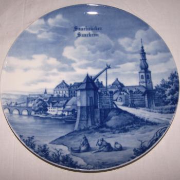 Souvenirs - Haushalt - Dekoration - Wandteller - Saarbrücker Saarkran
