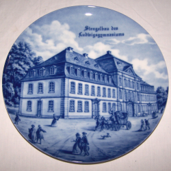 Souvenirs - Haushalt - Dekoration - Wandteller - Stengelbau des Ludwigsgymnasiums