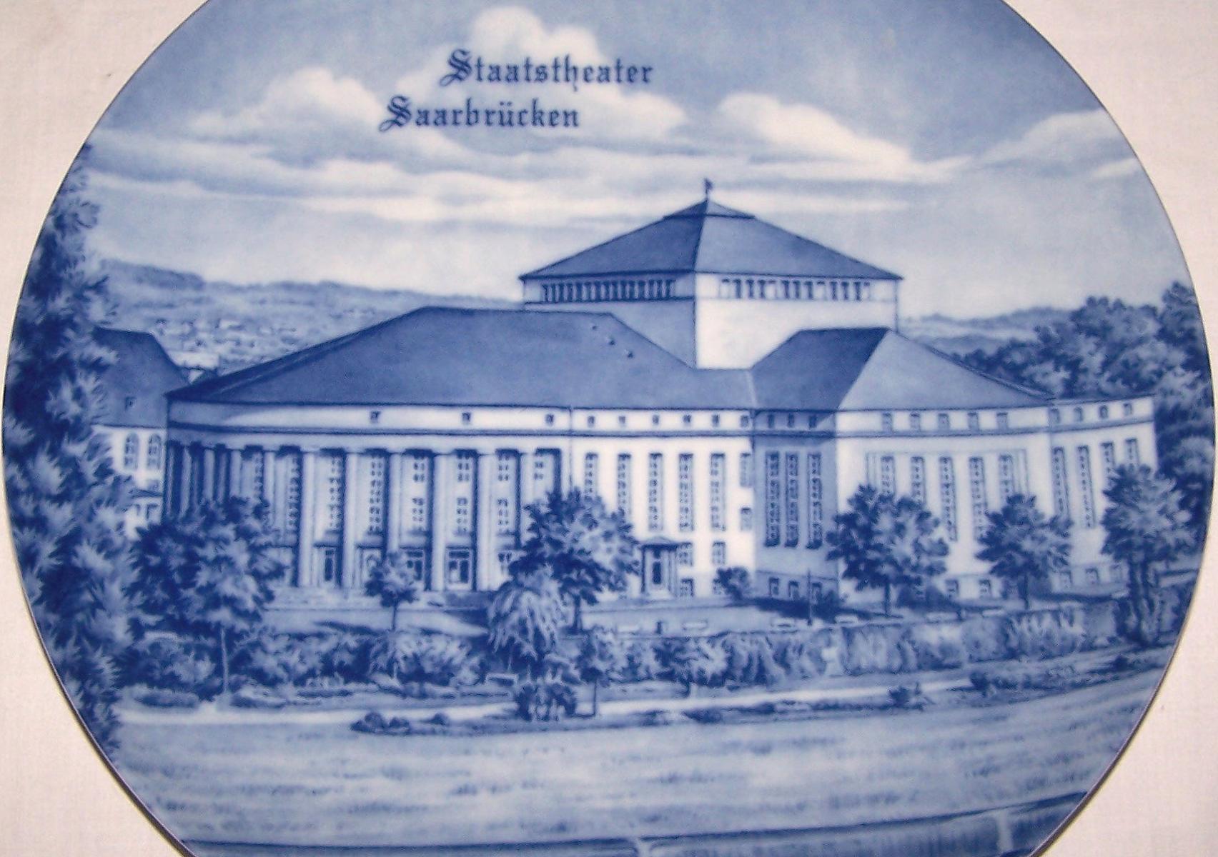 Souvenirs - Haushalt - Dekoration - Wandteller - Staatstheater Saarbrücken