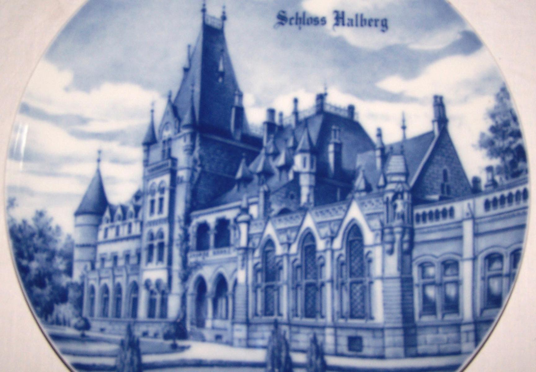 Souvenirs - Haushalt - Dekoration - Wandteller - Schloss Halberg