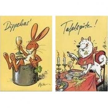 Versand - Comics - Michael Apitz Postkarten Schlemmer-Edition - Dippehas + Tafelspitz
