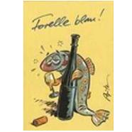 Versand - Comics - Michael Apitz Postkarten Schlemmer-Edition - Forelle blau