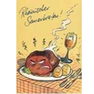 Versand - Comics - Michael Apitz Postkarten Schlemmer-Edition - Rheinischer Sauerbraten