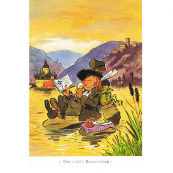 Versand - Comics - Michael Apitz Rheingauner-Postkarten - Der letzte Romantiker