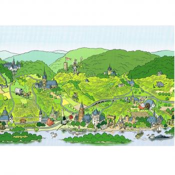Versand - Comics - Michael Apitz Rheingauner-Postkarten - Der obere Rheingau