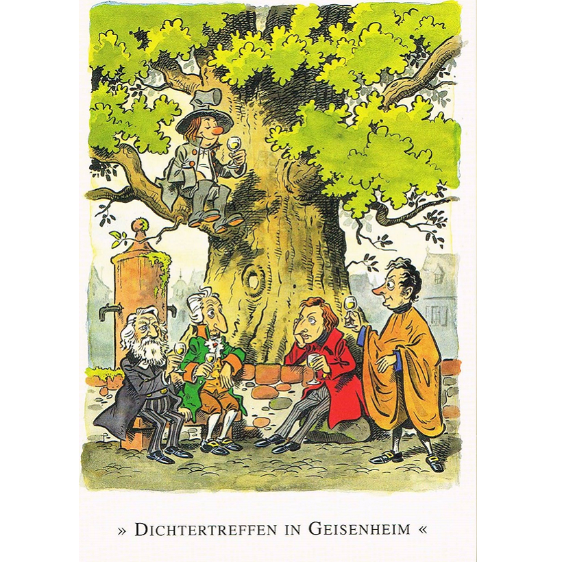 Versand - Comics - Michael Apitz Rheingauner-Postkarten - Dichtertreffen in Geisenheim