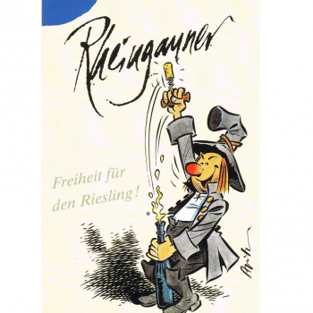 Versand - Comics - Michael Apitz Rheingauner-Postkarten - Freiheit für den Riesling