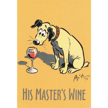 Versand - Comics - Michael Apitz Rheingauner-Postkarten - His Master's Wine