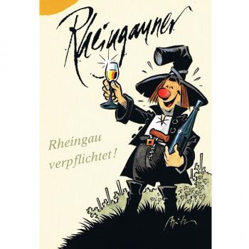 Versand - Comics - Michael Apitz Rheingauner-Postkarten - Rheingau verpflichtet