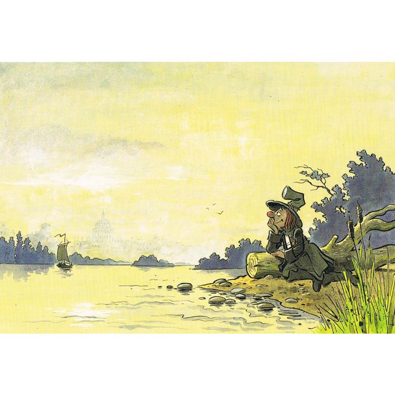 Versand - Comics - Michael Apitz Rheingauner-Postkarten - Romantische Reiseträume