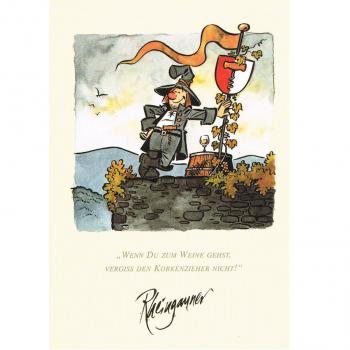 Versand - Comics - Michael Apitz Rheingauner-Postkarten - wenn Du zum Weine gehst