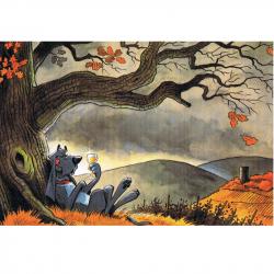 Versand - Comics - Michael Apitz - KARL-Postkarten - Der Herbstzeitlose