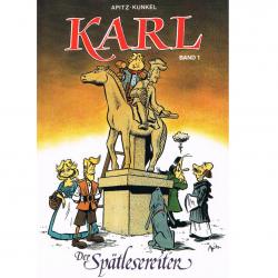 Versand - Comics - Michael Apitz - KARL-Postkarten - Der Spätlesereiter