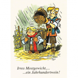 Versand - Comics - Michael Apitz - KARL-Postkarten - Irres Mostgewicht - ein Jahrhundertwein