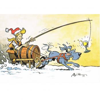 Versand - Comics - Michael Apitz - KARL-Postkarten - KARL, Grandpatte, Eiswein