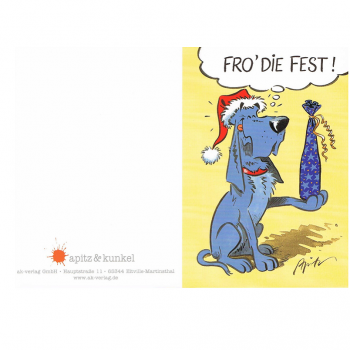 Versand - Comics - Michael Apitz - KARL-Postkarten - Klappkarte Fro' die Fest