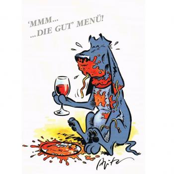 Versand - Comics - Michael Apitz - KARL-Postkarten - mmm ... die gut Menu