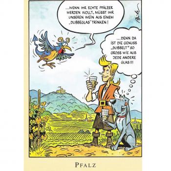 Versand - Comics - Michael Apitz - KARL-Postkarten - Pfalz