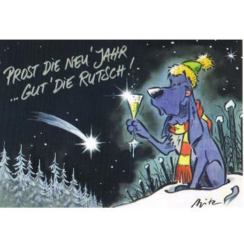 Versand - Comics - Michael Apitz - KARL-Postkarten - Prost die Neujahr ... gut die Rutsch