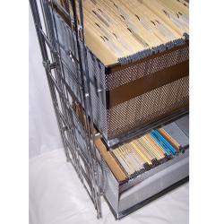 Möbel - Büro - Ablage & Archiv - Metallregal mit 2 Hängemappen-Auszügen - Containerauszüge
