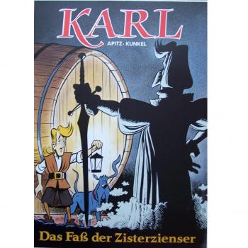 "Werbung - Literatur - Comics - Michael Apitz - Poster KARL-Comic Band 2 ""Das Faß der Zisterzienser"""