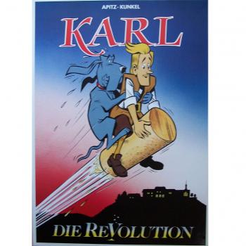 "Werbung - Literatur - Comics - Michael Apitz - Poster KARL-Comic Band 3 ""Die Revolution"""