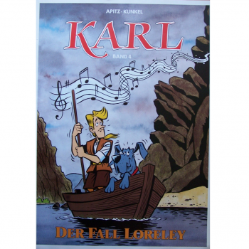 "Werbung - Literatur - Comics - Michael Apitz - Poster KARL-Comic Band 4 ""Loreley"""